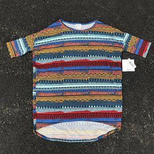 LuLaRoe Size 2XS Geometric Striped Aztec Shirt